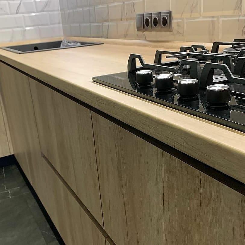 Высокие кухни под потолок-Кухня из ЛДСП «Модель 630»-фото5